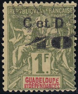 Guadeloupe 1903 SC 48a C instead of G Used