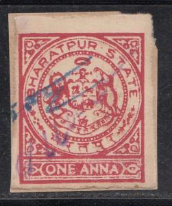 Bharatpur  State India Fiscal  1A  Carmine  Revenue K&M T 23  # 533   - 01288