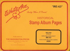 WHITE ACE 2020 Ireland Singles Simplified Stamp Album Supplement IRE-63