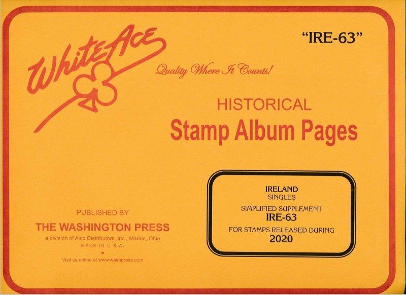 WHITE ACE 2020 Ireland Singles Simplified Stamp Album Supplement IRE-63