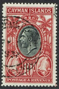 CAYMAN ISLANDS 1935 KGV CONCH SHELL 10/- USED