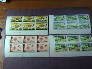 SEYCHELLES # 272-275-MINT/NEVER HINGED-COMPLETE SET OF PLATE # BLOCKS of 6--1970