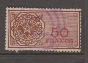 France and Colonies revenue Fiscal stamp 11-9-20 Moroc