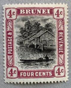 Brunei 1907 4c reddish purple, unused, loose perf. Scott #19a, CV $80.00. SG 26a