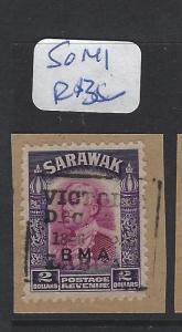 SARAWAK  (P2010B)  BOX LABUAN CANCEL $2.00     SG 141    PIECE      VFU
