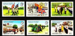 BERMUDA - 1982 - QE II - MILITARY - BERMUDA REGIMENT - GUNNERS ++ MINT MNH SET!