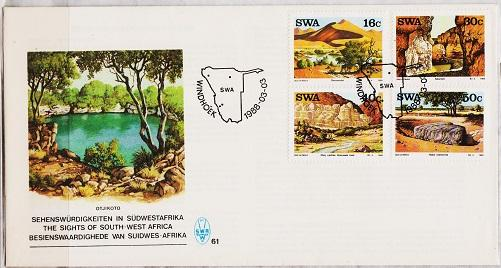 South West Africa. 1988 FDC. Landmarks. Fine Used