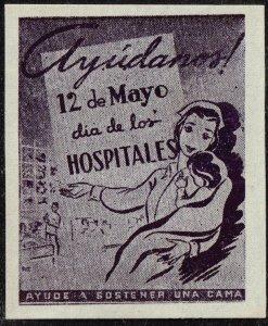 CUBA STAMP VIÑETAS CINDERELLA. 1950  HOSPITAL  MEDICINE NURSE MNH LOT #4