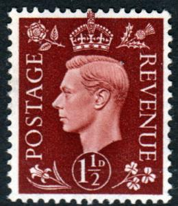 GB KGVI 1937 1.5d Red-Brown SG464 Mint Lightly Hinged