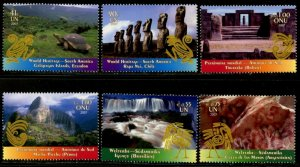UNITED NATIONS Sc# NY 941-2 GE 472-3 VI 400-1 2007 World Heritage MNH