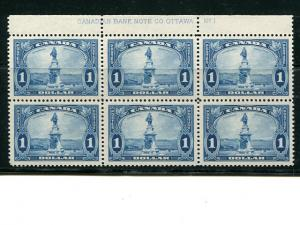 Canada #227  Imprint Block of 6   Mint VF.   - Lakeshore Philatelics
