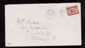 Newfoundland #130 Very Fine Used On 2nd Day Cover To USA