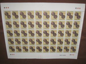 Portuguese India 1959 $4.40 Ancient Coins Sc 612 1v Full Sheet of 50 Stamps MNH