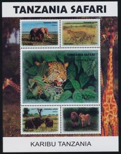 Tanzania 2458 MNH Elephant, Leopard, Buffaloes, Lion, Giraffe
