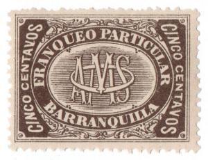 (I.B-CK) Colombia Local Post: Barranquilla 5c