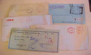 LEBANON  PP 1963 REGISTERED also OFFICIAL & 2 METERED AND CHECK