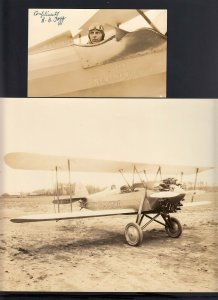 Robert Stevens FOGG Aviator SIGNED Postcard-THE NEW HAMPSHIRE