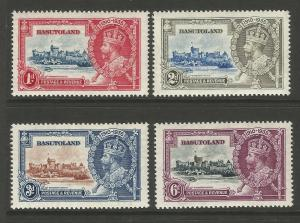 Basutoland 1935 KGV Silver Jubilee Mint Set Of Stamps