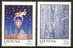 Lithuania 1997 Christmas set of 2 MNH