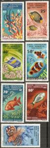 1966 French Somali Coast Scott C42-C48 Fish MNH