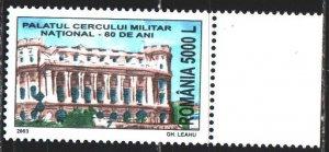 Romania. 2003. 5708. National Military Palace. MNH.
