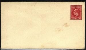 SIERRA LEONE EVII 1d envelope unused.......................................19374