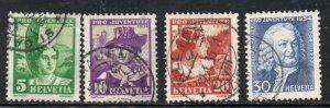 Switzerland Sc B69-72 1934 Pro Juventute Girls stamp set used