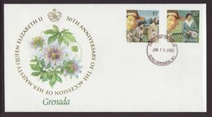 Grenada 3238a,3283d Queen Elizabeth II U/A FDC
