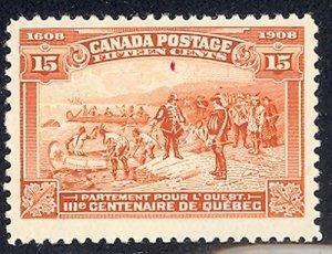 Canada # 102 var. Mint O.G.   - Lakeshore Philatelics