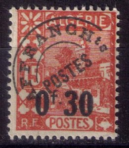 ALGERIA French Michel 222v Precancel Surcharge 30c On 15c (Sc 187) F-VF