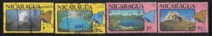 Nicaragua Scott 1097-1100  Used