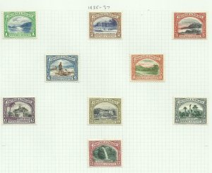 Trinidad & Tobago 1935/7 Set of 9, Hinged to page, Sg 230-238, M/M {C/P-7}