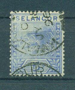 Malaya - Selangor sc# 27 (2) used cat value $5.25