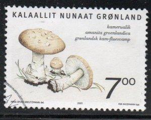 Greenland Sc 447 2005  7.0 kr Mushroom stamp used