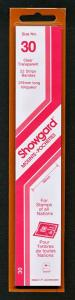 Showgard Stamp Mounts Size 30 / 215 CLEAR Background Pack of 22