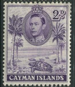 Cayman Islands -Scott 104a -KGVI Definitive Issue -1938- MH -Single 2d Stamp