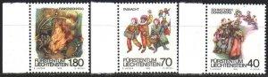 Liechtenstein. 1983. 818-20. Folk folklore. MNH.