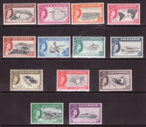 ASCENSION ISLAND 1956 Set complete Superb UNMOUNTED. Catalogue £140.