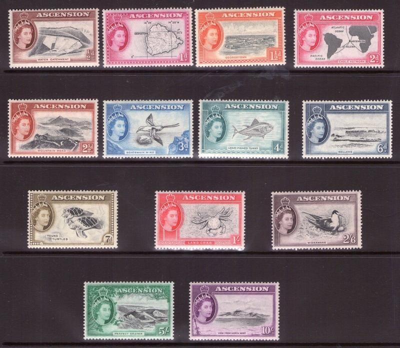ASCENSION ISLAND 1956 Set complete  lightly hinged. Catalogue £140.