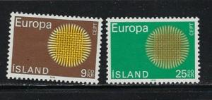 Iceland 420-21 Hinged 1970 Europa