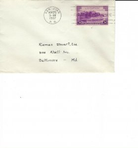 801 3c PUERTO RICO - Small envelope