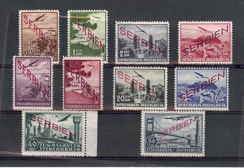 Serbia, 2NC1-10, Occupation Airmail Singles, **MNH**