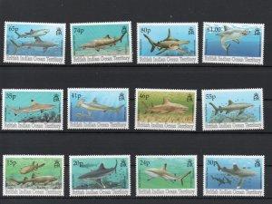 British Indian Ocean Territory 151-162 MNH