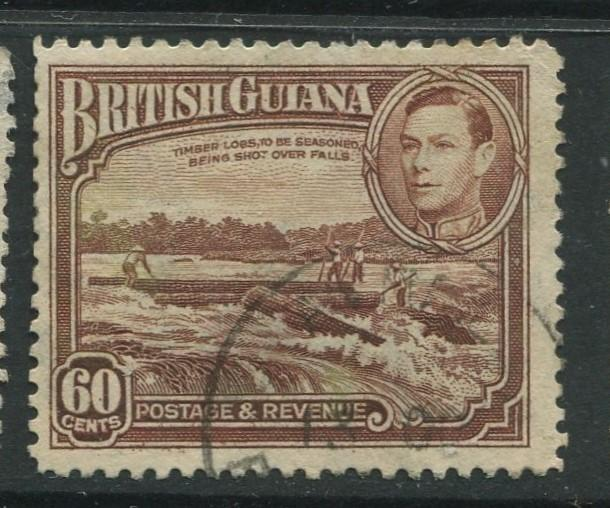 British Guiana - Scott 237 - KGVI- Definitive -1938 - FU - Single 60c Stamp