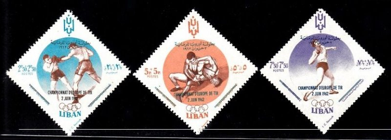 Lebanon MNH B16-8 Boxing European Championships 1962