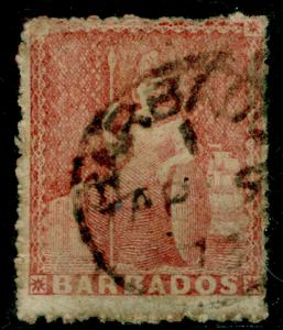 BARBADOS SG49, (4d) dull rose-red, used, CDS. Cat £70.