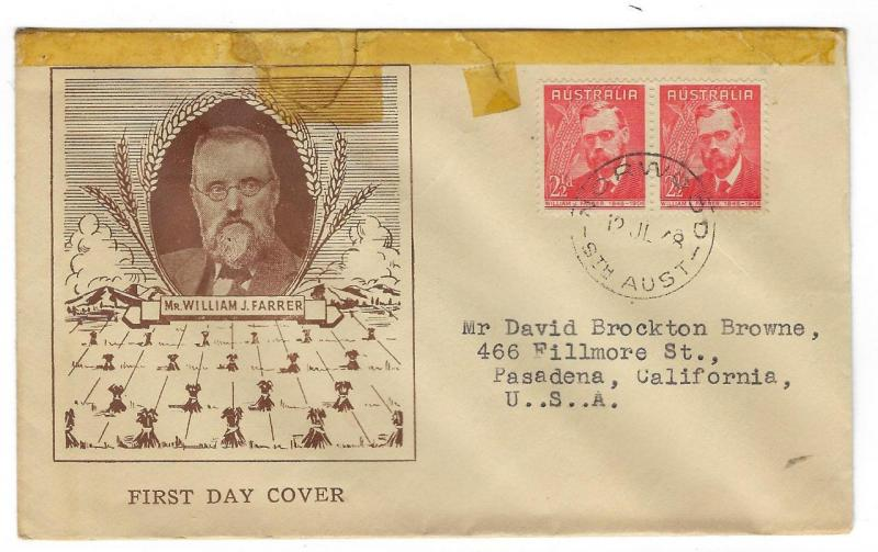 1948 Australia To USA First Day Cover - (MM67)