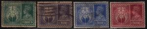 India 195-198 Hinged Used 1946 King George VI, Symbols of Victory