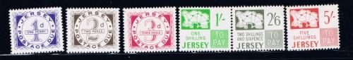 Jersey J1-6 NH 1969 Postage Dues