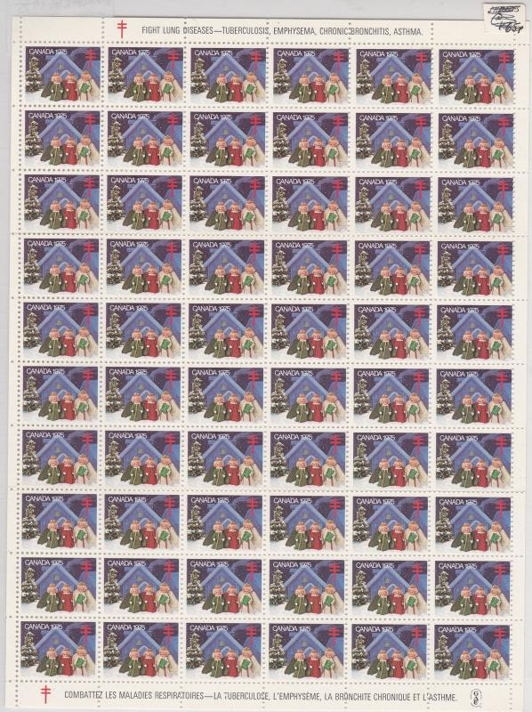 Canada 1975 Tuberculosis Stamps Sheet Mint Ref: R6367